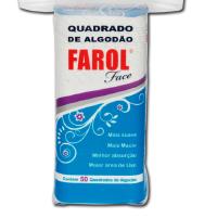 ALGODAO HIDROFILO FAROL FACE EM QUADRADINHOS C/50
