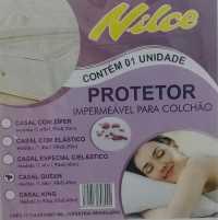 CAPA DE COLCHAO IMPERMEAVEL PVC - BRANCO - QUEEN SIZE (1,58X1,98X0,40)
