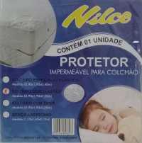 CAPA IMPERMEAVEL DE COLCHAO PVC C/ ELASTICO - BRANCA - SOLTEIRO (0,90X1,90X0,20)