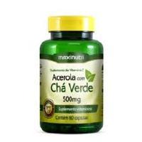 CHA VERDE + ACEROLA 500MG 60CAPS