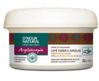 CREME P/ MASSAGEM CAFÉ VERDE E ARGILAS 300G