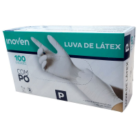 LUVA DE LÁTEX COM PÓ INOVEN P Branco