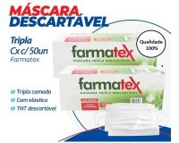 MASCARA CIR TRIPLA PROTECAO C/ELASTICO C/50 FARMATEX