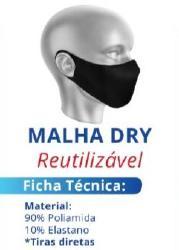 MASCARA TECIDO REUTILIZAVEL - MALHA DRY